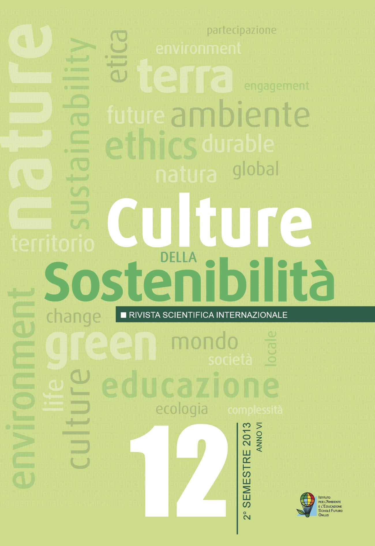 Culture della Sostenibilità 12 – 2013